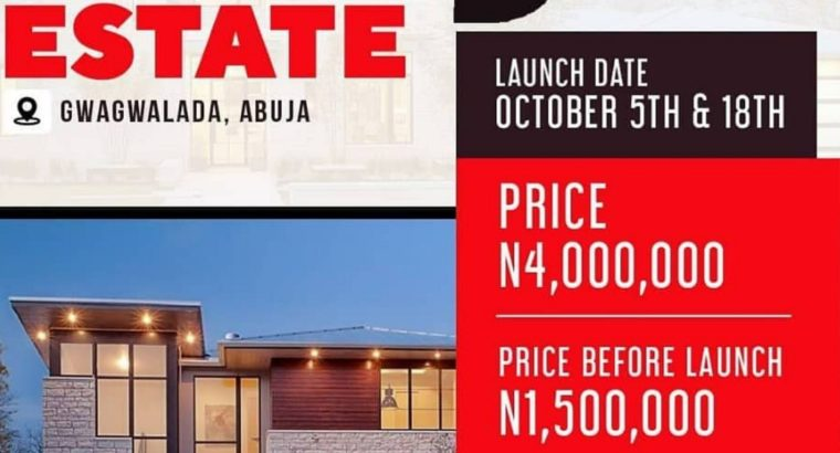 BUY NOW: LANDS AT BERYL ESTATE GWAGWALADA , ABUJA