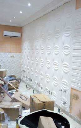 installation of 3d wall panel, wallpaper, 3d epoxy floor,concrete floor stamp