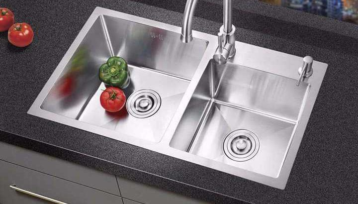 Orange kitchen sink