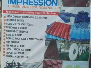 High Quality Aluminium, Roofing sheets etc