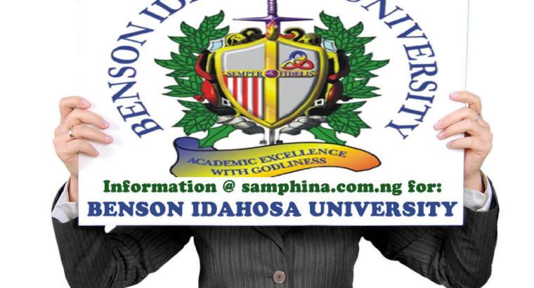 Benson Idahosa University Benin 2019 Admission