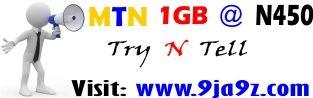 MTN 1 GB @ N450