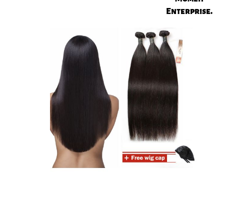 Bliss Hair Natural Black Silky Straight Human Hair