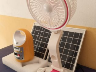 Rechargable Table Fan with MP3 Solar Light kits /