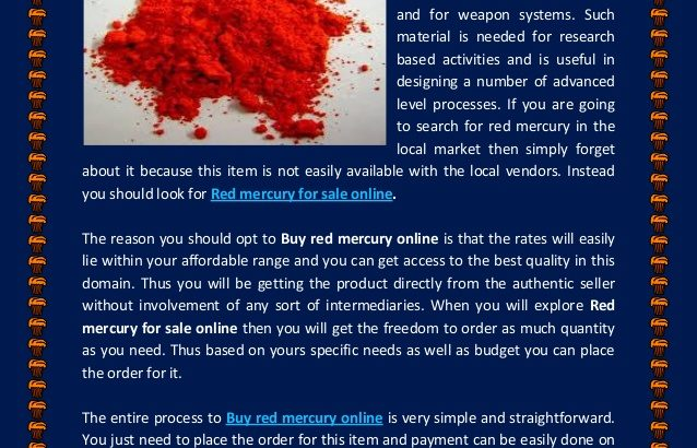 Red mercury ON SALE IN USA-UK-DUBAI