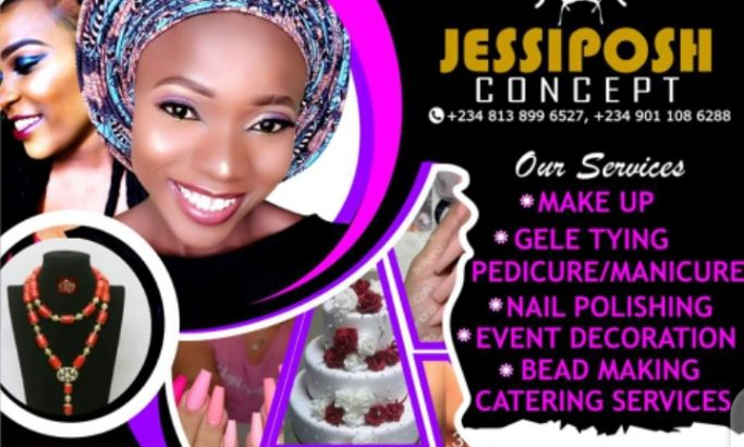 Makeup| Gele tying| Bead designing| Cake making