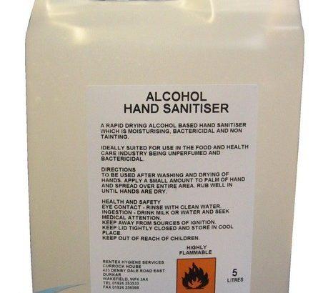ALCOHOL BASED HAND SANITAIZER ( 5 LITERS BULK )