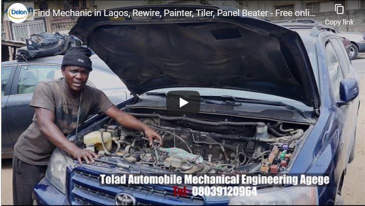 Find Mechanic in Lagos, Rewire, Painter, Tiler, Panel Beater