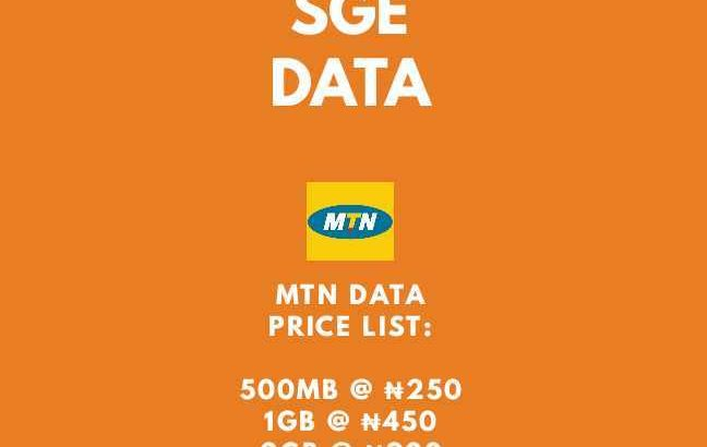 BUY YOUR MTN DATA AT A CHEAP RATE