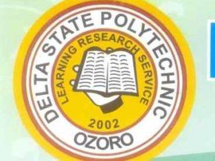 Delta State Polytechnic, Ozoro 2020/2021 ND Post-U