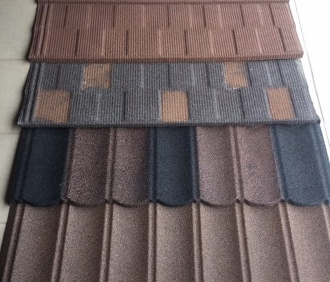 METAL STONE COATED ROOF TILE