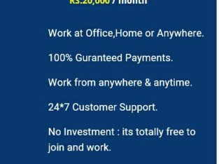 We are Hiring – Earn Rs.15000/- Per month – Simple