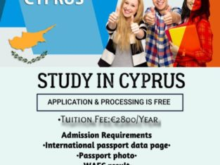 Study in North Cyprus – Free Processing