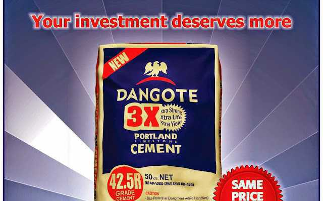 Buy Dangote cement here in depot