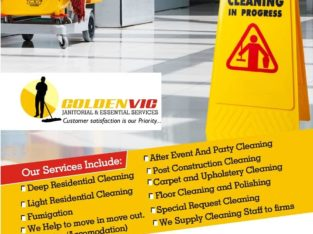 GoldenVIc Janitorial & Essential Services Our serv
