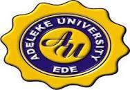 AdelekeUniversity, Ede 2O2O/2O21 Session Admission