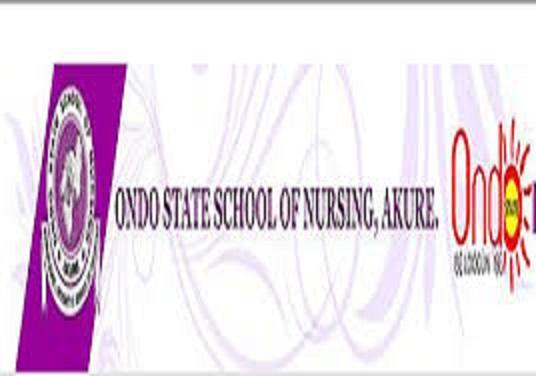 Ondo School of Nursing Akure 2020/2021 Admission