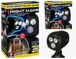 Night hawk security led light