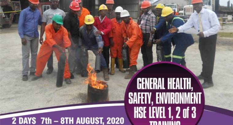 GENERAL HEALTH, SAFETY & ENVIRONMENT TRAINING
