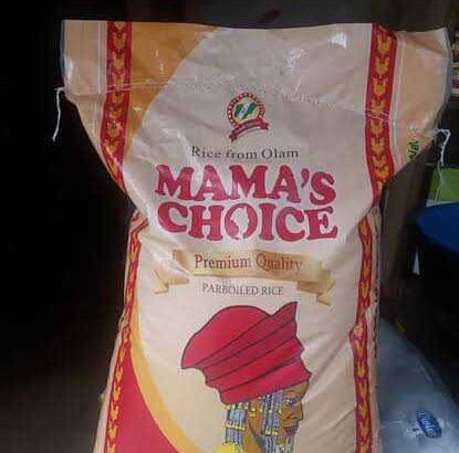 mama choice bag of Rice for sale at a very affordable price. including others.