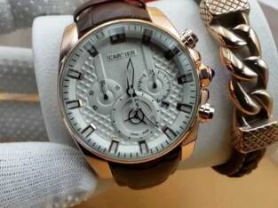 Cartier Rose Gold Leather Watch