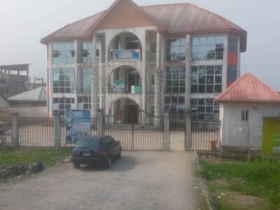 A TWO STOREY COMMERCIAL BUILDING IN YENAGOA