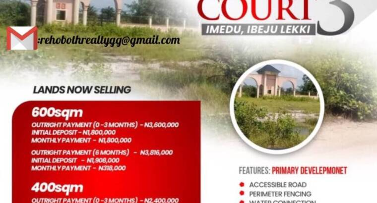 DRY RESIDENTIAL LAND IN A SERENE ENVIRONMENT