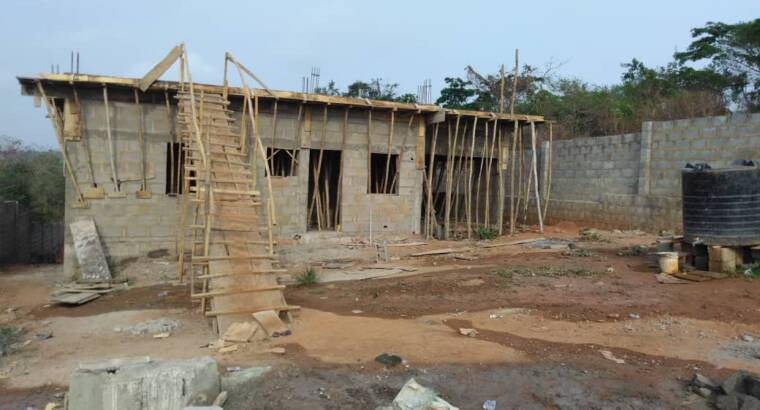 Full Fence 2 Plot Of Land With Uncompleted Buildin
