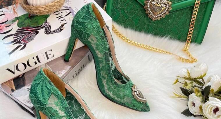 Designer handbag and shoe