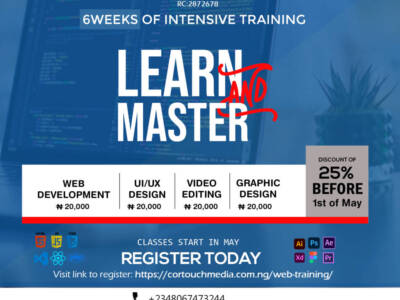 LEARN AND MASTER: WEB DEVELOPMENT, UI & UX DESIGN