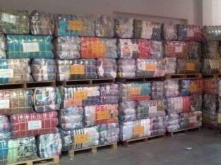 Bales of first Grade UK Clothes