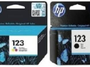123 HP INK & TONER CARTRIDGES – BLACK & COLOR