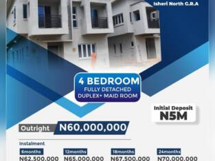 4 Bedroom Fully Detached + Maid Room For Sale