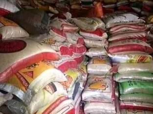 BAGS OF RICE, BAGS OF CEMENT, GALLONS OF VEG. OILS