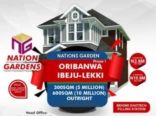 Land for Sale at Oribanwa, Ibeju-Lekki (Phase 1)